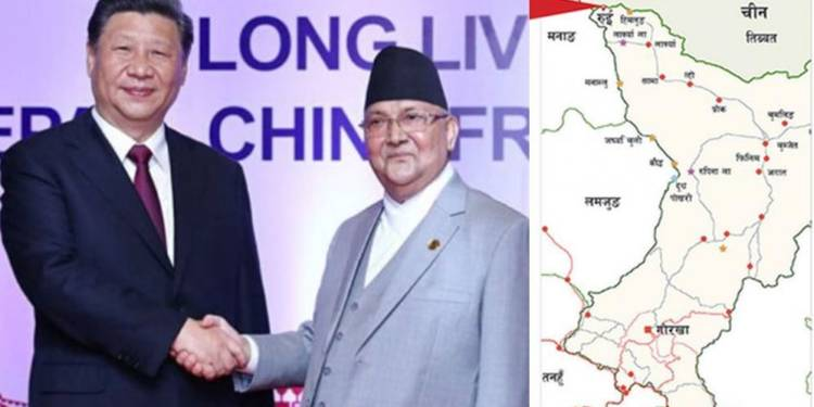 China occupies Rui village in Nepal but Oli govt is criminally quiet,  instead PM Oli is busy claiming Indian land